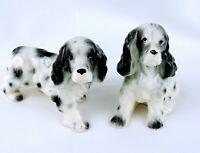 Ceramic Salt Pepper Shakers Cocker Spaniel Dogs Figurine Made in Japan Vintage
