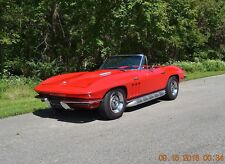 1965 Chevrolet Corvette 4SPD SIDE PIPES RALLY RED BOTH TOPS