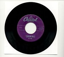 "LES PAUL / MARY FORD - TENNESSEE WALTZ / 45 RPM 7"" VINYL SINGLE / 1950 F1316"