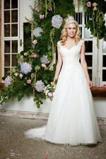 Embroidery Organza Plus Size Wedding Dresses