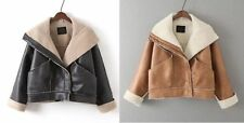 Faux Leather Unbranded Hand-wash Only Solid Coats & Jackets for Women