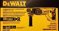 New Dewalt DCH133B 20V Max XR Brushless 1-inch D-Handle Rotary Hammer Drill