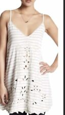 Free People Top Seafarin  White /Gray  Size M