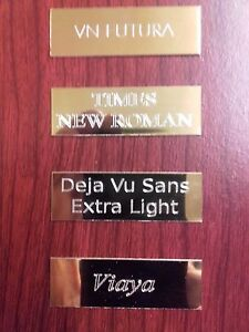 Engraving Plates for Trophies, Awards, Framed Shirts. Cut to Size - Please Ask