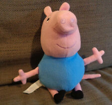 Peppa big brother George blue pig Plush soft toy 10 inches tall