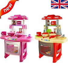 Electronic Kitchen Cooking Toy Toddler Kids Cooker Play Set Kit Light & Sound UK