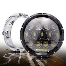 "Harley 7"" Round LED Halo Angel Eye Headlight Headlamp Projector Fits 2014-2017"