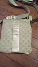 Brand Coach #A1120-45536, women purse with cross band PRE-OWNED authentic