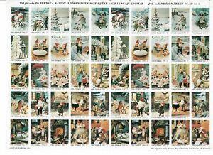 s26893) SWEDEN 1980/81 MNH** Tubercolosis Christmas Sheet God Helg cinderella