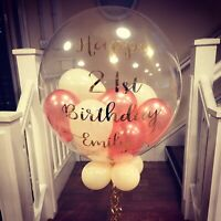 Personalised Balloon Filled Helium inflated Balloon for Birthday, Baby Shower