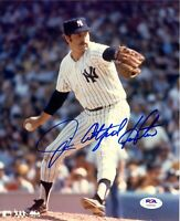 Jim Catfish Hunter autographed signed 8x10 photo MLB New York Yankees PSA COA