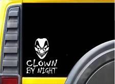 Clown by Night J817 6 inch sticker Decal