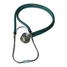 Home Medical Dual-Head Dual-barreled Stethoscope Superior Acoustic Green