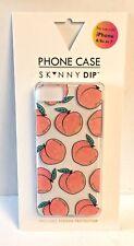 NIB SKINNY SK^NNY DIP Peaches iPhone 6, 6s, 7 - w/Screen Protector