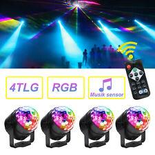4x LED RGB Bühnenbeleuchtung Discokugel Lichteffekt Laser Licht DJ Party Lampe