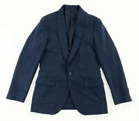 J Crew Ludlow Mens Italian Ormezzano Cotton Shawl Lapel Blazer Jacquard Blue 34S