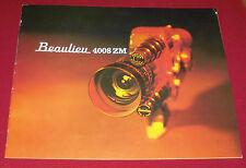 Soffitta Fund prospetto ALT cinepresa Pubblicità 1969 SUPER 8 Beaulieu 4008 ZM