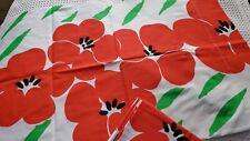 New Vintage Burlington Pillowcases Red Poppy Standard