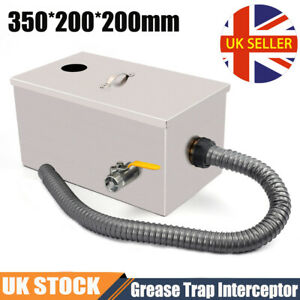 Commercial Grease Trap Waste Fat Oil Filter Water Separator Stainless Steel UK