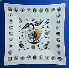 Glass Guild plate square dish Georges Briard forbidden fruit apple 11¾x11¾x2""