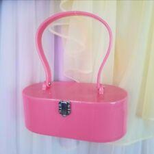 Pink vintage lucite style box purse handbag