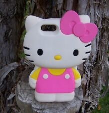 HELLO KITTY! SILICONE RUBBER iPHONE 5 OVERSIZED CASE PINK YELLOW WHITE ADORABLE!