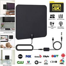 80 Miles Indoor Digital HD TV Antenna with Signal Amplifier Booster HDTV Fox 4K