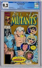 New Mutants #87 Marvel 1990 CGC 9.2 2nd Print 1st Cable Stryfe Gold Ink Cover