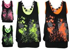 Polyester Sleeveless Tops & Shirts for Women with Glitter