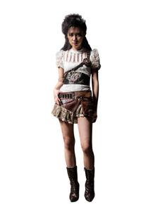 Steampunk Vintage MINIROCK mit TASCHE BRAUN Petticoat Skirt Einheitsgröße RQ-BL