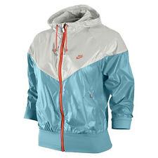 Nike Womens Summerized HBR Windrunner 3/4 Sleeve Shiny Nylon Jacket Small