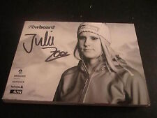 49557 Julie Zogg Snowboard original signierte Autogrammkarte
