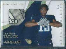 2017 Immaculate Taywan Taylor Titans Adidas Glove Patch Relic RC #'d 2/5