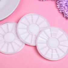 Nail Art Empty Storage Wheels Rhinestones Beads Slices Box 10x Rotatable Case