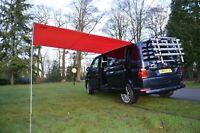 VW Camper Van Sun Canopy Awning Van Conversions Motorhomes 2.4m x 3m RED