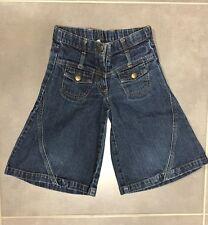 Pantacourt évasé en jeans bleue KIABI Taille 4 ans / 102 cm