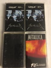 Metallica [4 Cassette Tapes] Garage Inc., Reload, S/T(black album)