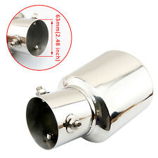 63mm 2.5 Inch Universal  Car Rear Exhaust Tail Muffler Pipe End Tip Cover Steel