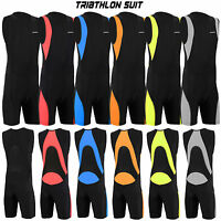 Mens Triathlon Suit Cycling Running Compression Tri Suit CoolMax Padding Dimex
