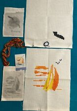 Unfinished Cross Stitch Kits Lot of 2 Ship Eagle 6 Ct Aida Curriculum Resources