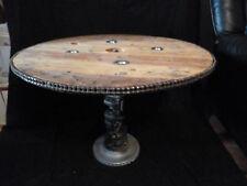 magnifique table basse industrielle fait main  H 54 / D 82 /. fait main