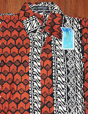 VTG NWT ABITEX Batik SHIRT INDONESIA SIZE XL ISLAND CASUAL WEAR UNIQUE ABSTRACT