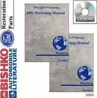 2001 Ford Mustang Shop Service Repair Manual CD Engine Drivetrain Electrical OEM