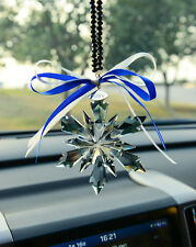 2018 New Black Crystal Glass Snowflake ornament Charm Pendant Gift Party Decor