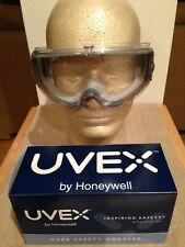 Uvex S3960C Stealth Gray Frame Safety Goggles with Clear Lens NEW