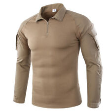 Army Mens Combat T-Shirts Tactical Military Long Sleeve Casual Shirts Camouflage