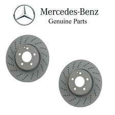 Mercedes W204 W207 W212 Pair Set of 2 Front Vented Cross Drilled Brake Discs OES