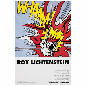 Roy Lichtenstein | Tate Gallery Liverpool | 1993 Vintage Exhibition Poster