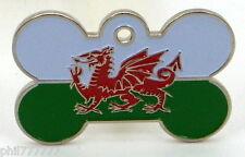 Y Ddraig Goch ~ bandera nacional del País de Gales ~ gran etiquetas de identificación del animal doméstico