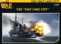 "GENUINE PAPER-CARD MODEL KIT -USS ""SALT LAKE CITY"" A3"